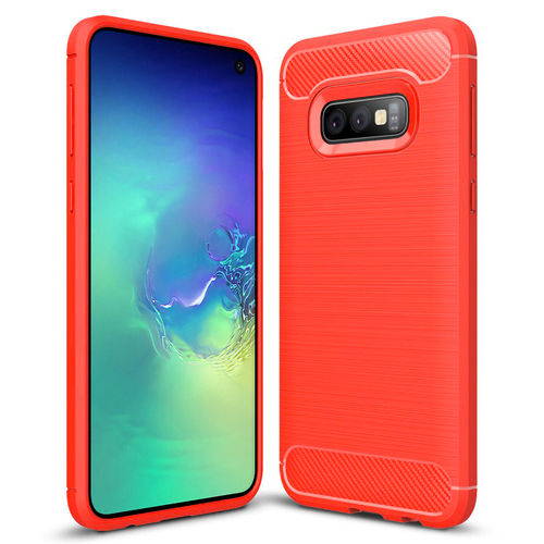 Flexi Carbon Fibre Case for Samsung Galaxy S10e - Brushed Red